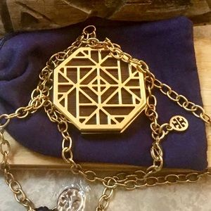 Tory Burch Solid Fragrance Hexagon Logo Pendant